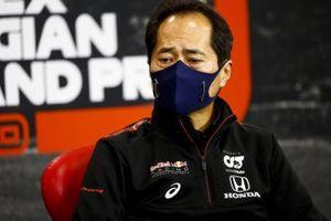 Toyoharu Tanabe, F1 Technical Director, Honda in conferenza stampa