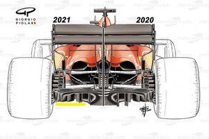 Ferrari SF1000 diffuser comparison