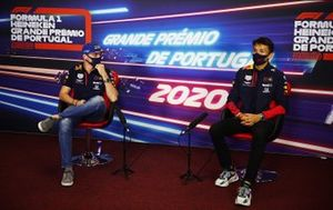 Max Verstappen, Red Bull Racing e Alex Albon, Red Bull Racing in conferenza stampa