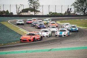Largada da corrida 2 em Interlagos