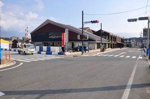 ターン4|江津駅前|準備が進むA1市街地グランプリ GOTSU 2020のコース