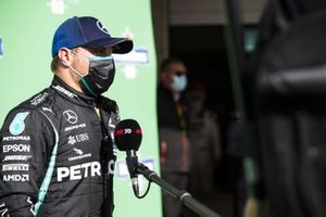 Valtteri Bottas, Mercedes-AMG F1, is interviewed after Qualifying