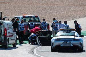 Michael Masi, Race Director and the FIA fix the broken drain