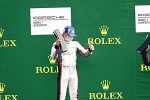 Ayhancan Guven, martinet by Almeras, 1st position, on the podium with his trophy