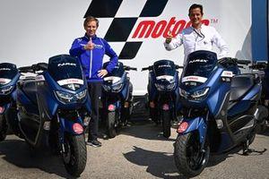 Consigliere delegato Yamaha, Lin Jarvis, dan Managing Director Dorna Sports, Pau Serracanta