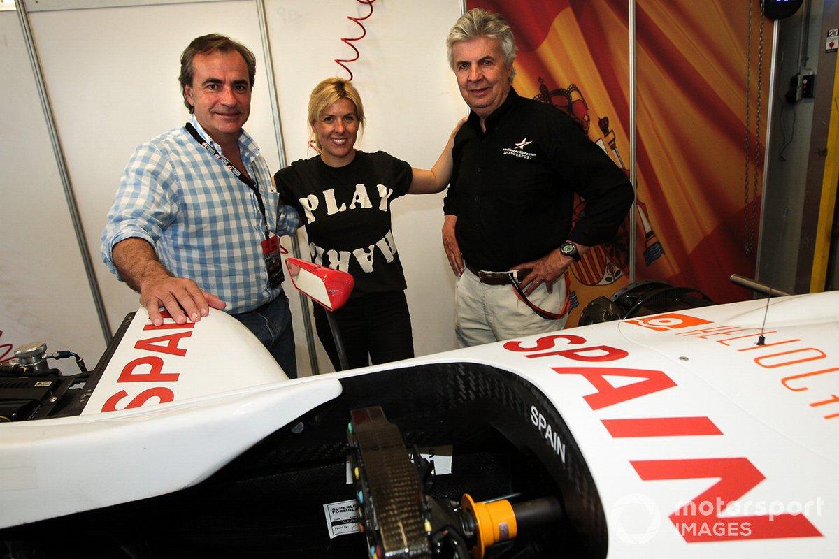 كارلوس ساينز، ماريا دي فيلوتا ووالدها إيميليو دي فيلوتا، فريق أتلتيكو مدريد