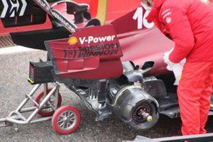 Ferrari SF21 achterwiel detail