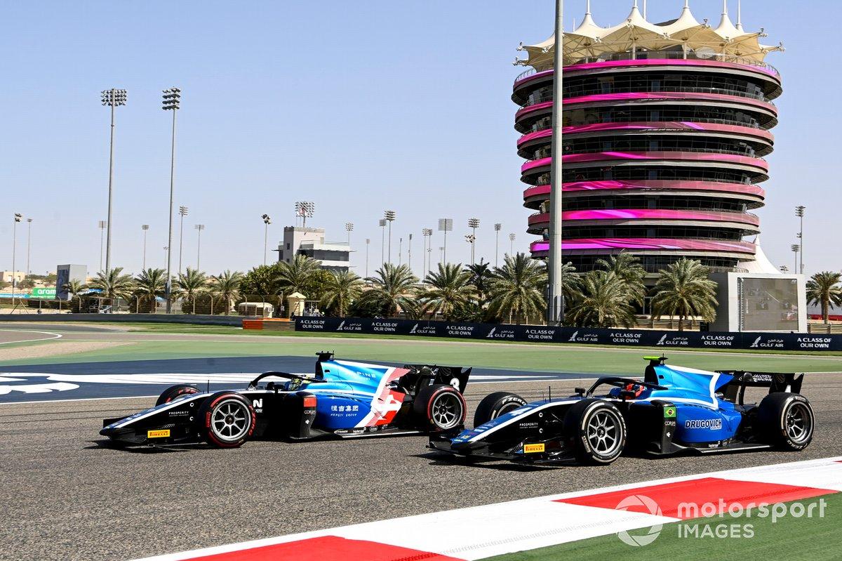 Guanyu Zhou, Uni-Virtuosi Racing y Felipe Drugovich, Uni-Virtuosi