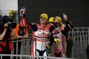 1. Sam Lowes, Marc VDS Racing Team, 3. Fabio di Giannantonio, Federal Oil Gresini Moto2