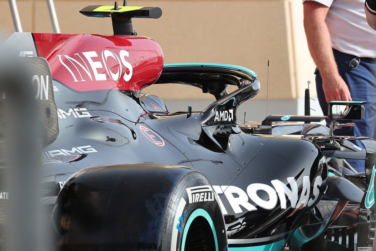 Detalle de la refrigeración del Mercedes W12