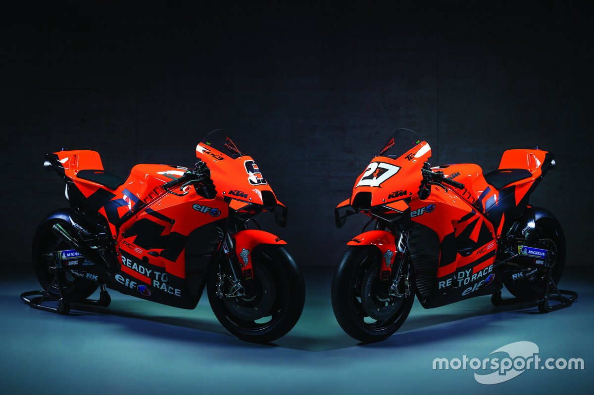 Bikes of Danilo Petrucci, Red Bull KTM Tech 3 and Iker Lecuona, Red Bull KTM Tech 3