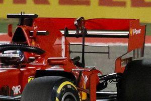 Sebastian Vettel, Ferrari rear wing detail