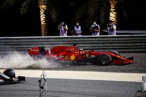 Sebastian Vettel, Ferrari SF1000 runs wide over the gravel