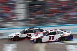 Denny Hamlin, Joe Gibbs Racing, Toyota Camry, Brad Keselowski, Team Penske, Ford Mustang