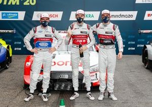 Pole sitter Rene Rast, Audi Sport Team Rosberg, Mike Rockenfeller, Audi Sport Team Phoenix, Jamie Green, Audi Sport Team Rosberg