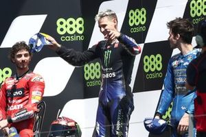 Francesco Bagnaia, Ducati Team Fabio Quartararo, Yamaha Factory Racing Joan Mir, Team Suzuki MotoGP podium