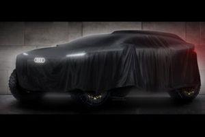 Teaser de la voiture d'Audi pour le Dakar 2022
