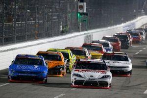 Harrison Burton, Joe Gibbs Racing, Toyota Supra DEX Imaging, Justin Allgaier, JR Motorsports, Chevrolet Camaro Walmart Fight Hunger