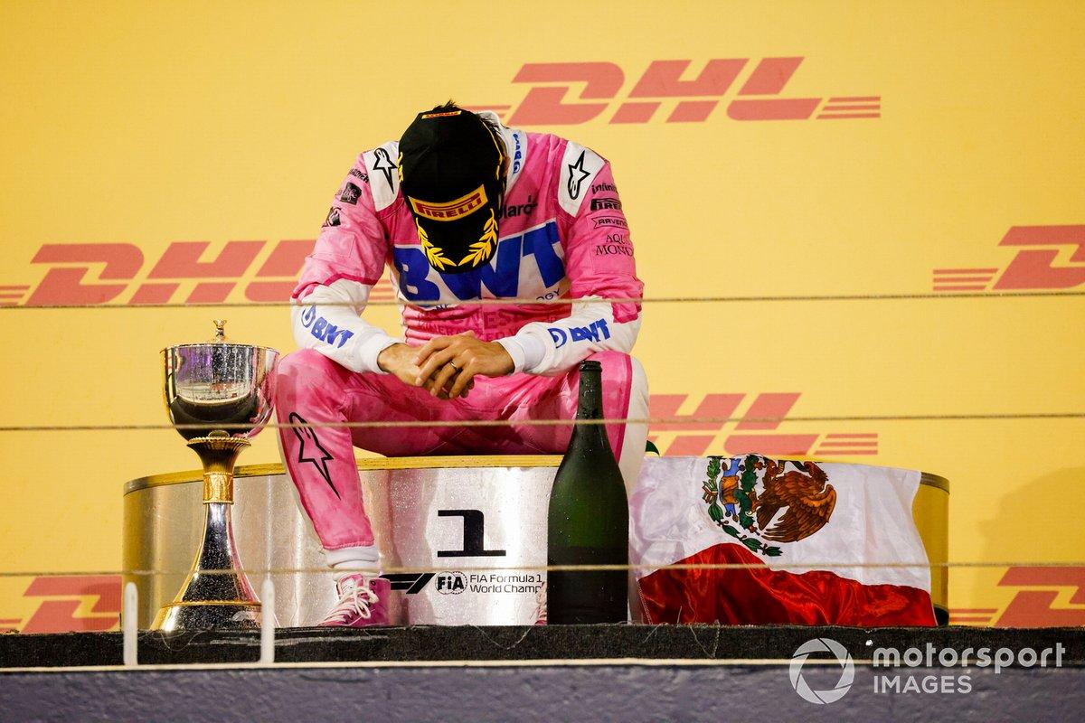 Podio: ganador Sergio Pérez, Racing Point