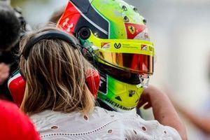F2 Champion Mick Schumacher, Prema Racing celebrates in Parc Ferme