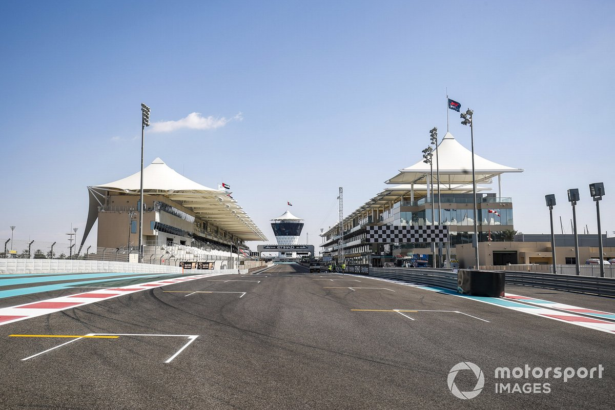 La recta del circuito Yas Marina de Abu Dhabi