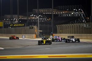 Esteban Ocon, Renault F1 Team R.S.20, Pierre Gasly, AlphaTauri AT01, and Lance Stroll, Racing Point RP20