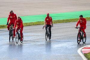 Sebastian Vettel, Ferrari cycles the track
