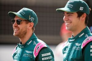 Sebastian Vettel, Aston Martin AMR21 and Lance Stroll, Aston Martin AMR21