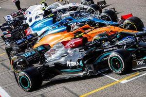 The car of Valtteri Bottas, Mercedes W12