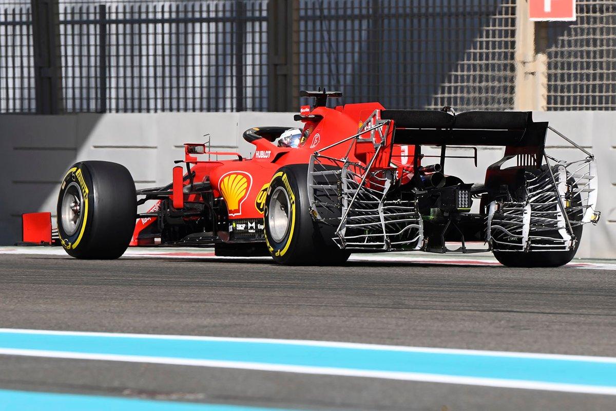 Sebastian Vettel, Ferrari SF1000 con i sensori posteriori