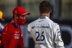 Sebastian Vettel, Ferrari, and Daniil Kvyat, AlphaTauri