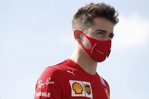 Charles Leclerc, Ferrari, arrives