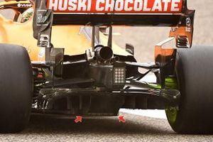 McLaren MCL35M diffuser detail