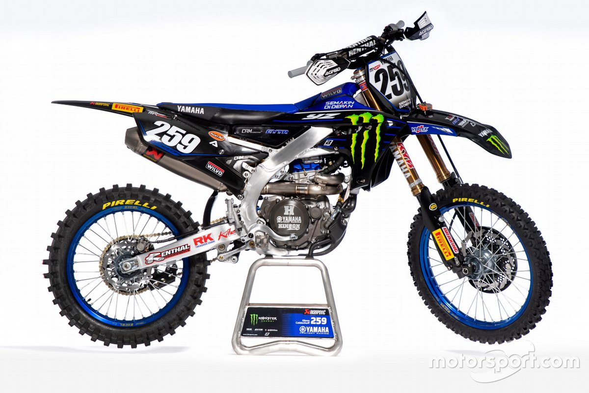 La moto de Glenn Coldenhoff, Monster Energy Yamaha Factory Racing