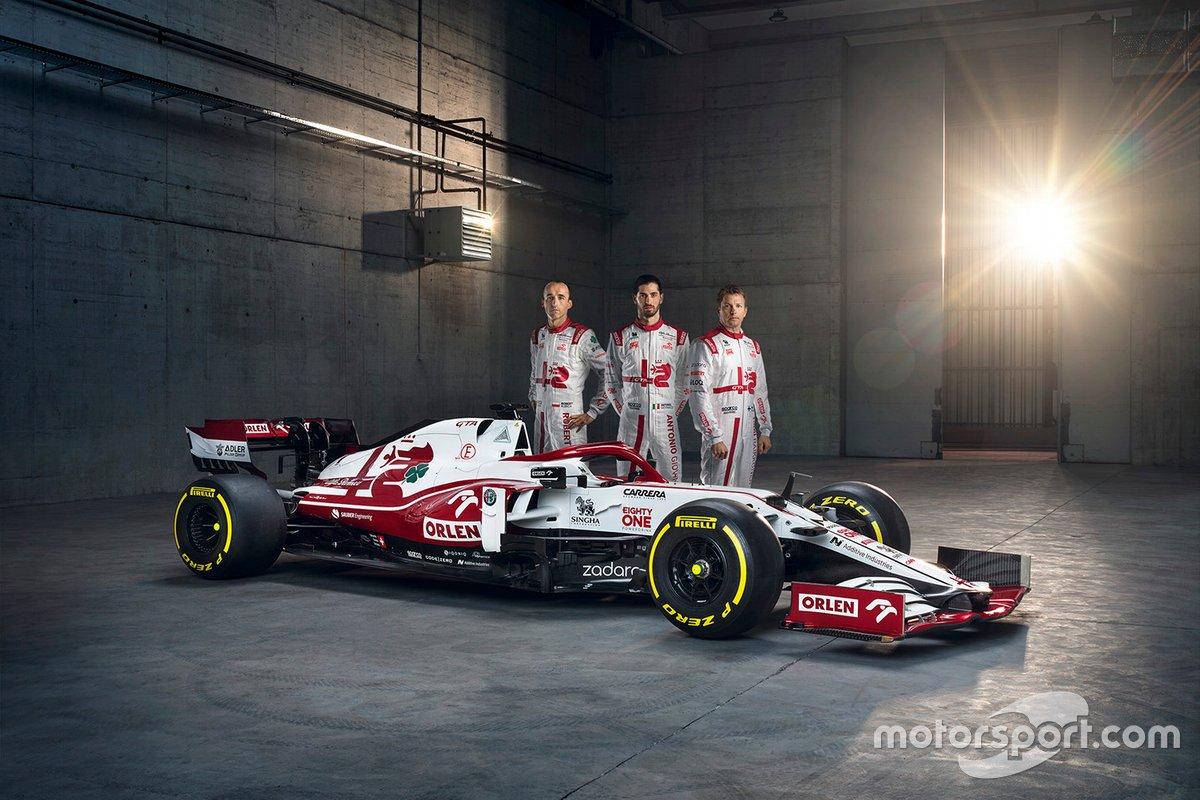 Антонио Джовинацци, Кими Райкконен, Роберт Кубица, Alfa Romeo Racing C41