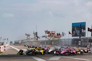 Start zum Firestone Grand Prix of St. Petersburg 2021: Colton Herta, Andretti Autosport Honda, führt