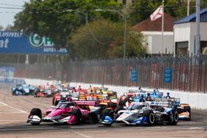 Alexander Rossi, Andretti Autosport Honda, Graham Rahal, Rahal Letterman Lanigan Racing Honda