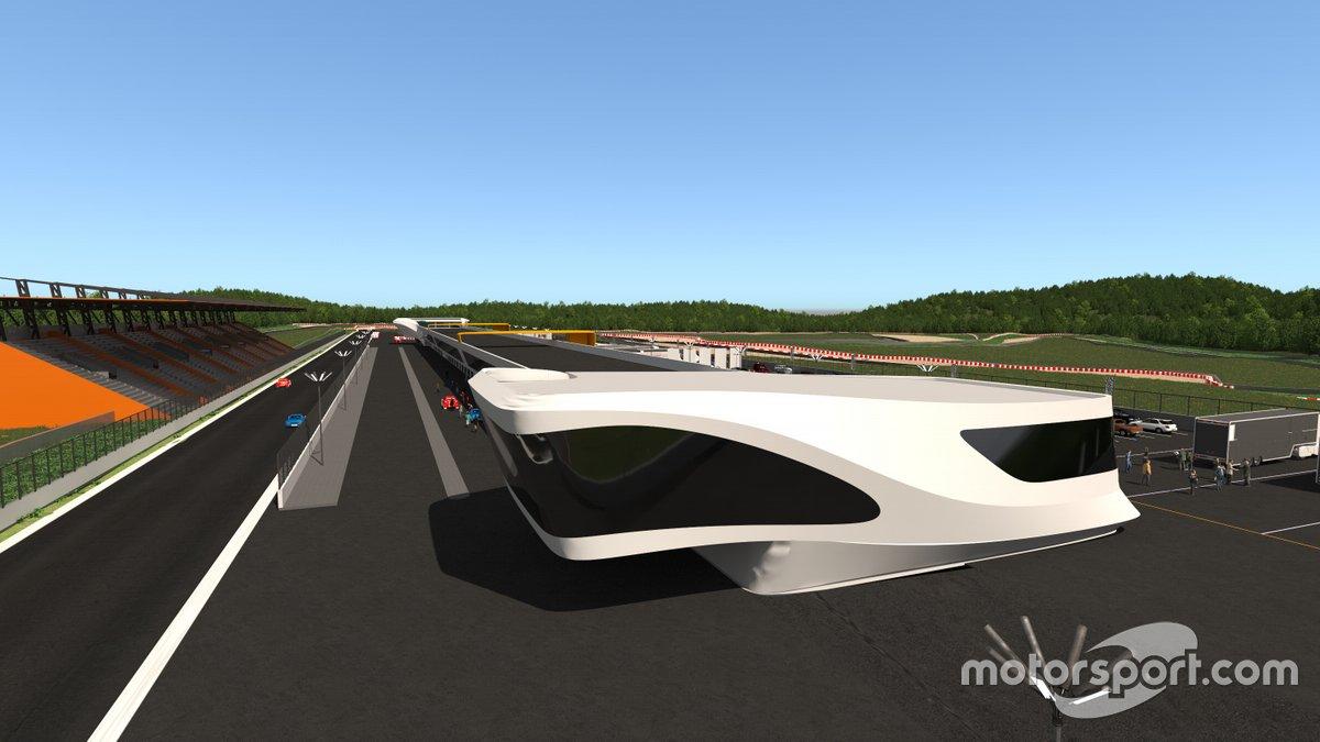 Bocetos del circuito de velocidad de Morata de Tajuña