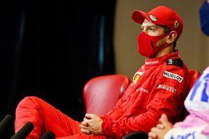 Себастьян Феттель, Ferrari. на пресс-конференции
