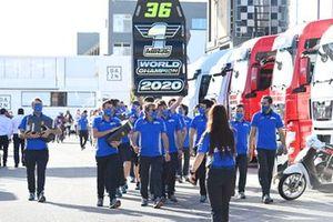 Team Suzuki MotoGP celebrate