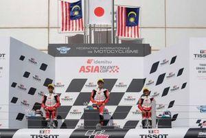 Podium Race 2 ATC Doha: #21 Danial Sharil, #15 Taiyo Furusato, #13 Hakim Danish