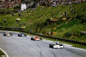 Carlos Reutemann, Brabham BT44B, Niki Lauda, Ferrari 312T, Patrick Depailler, Tyrrell 007, Jochen Mass, McLaren M23 Ford