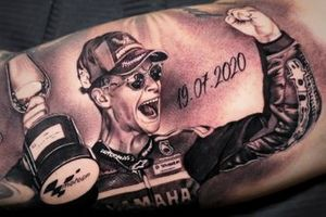 Tattoo of Fabio Quartararo, Petronas Yamaha SRT