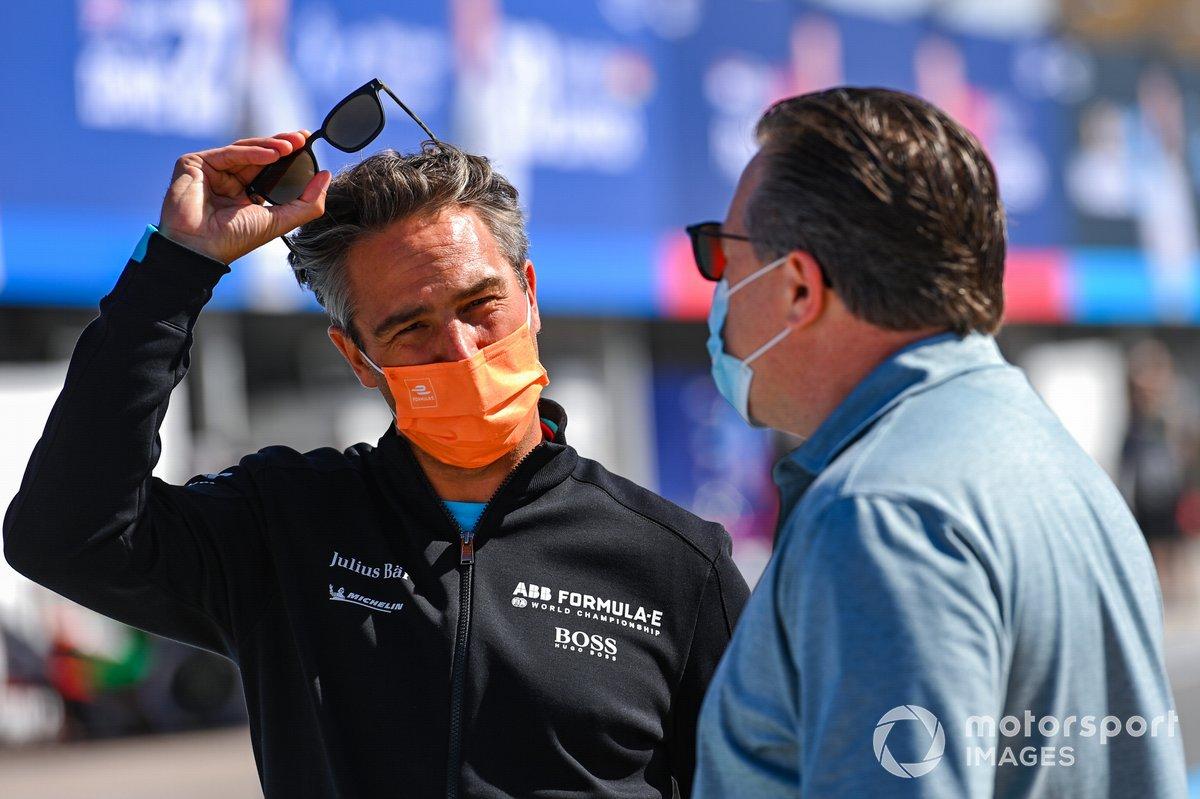 Jamie Reigle, CEO of Formula E, Zak Brown, McLaren