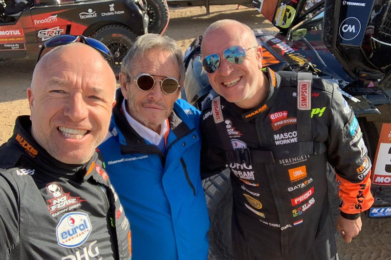 #347 Jefferies and Maxxis Dakar Team: Tim Coronel, Tom Coronel con Jacky Ickx