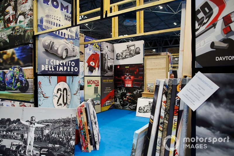 Canvases for sale at the Autosport show