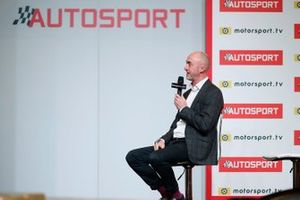 David Brabham talks on the Autosport stage