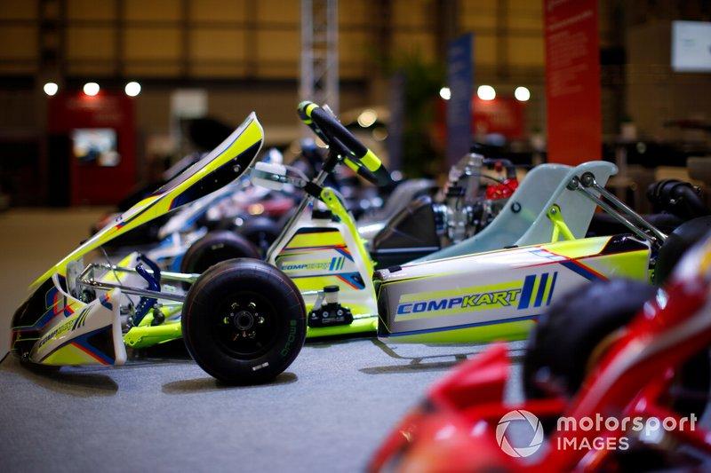 Los karts se exhiben en Autosport International