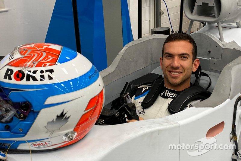 Nicholas Latifi, Williams FW43 seat fitting