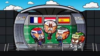El podio del GP de Brasil 2019 de F1, por MiniDrivers